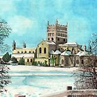 Tewkesbury Abbey in the snow south elevation by doatley