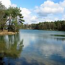 Blue Lake Mirror by ienemien