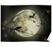 Halloween Scene Poster