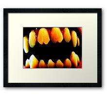 fangs Framed Print