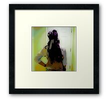 Women in ART, Hello, goodbye Framed Print