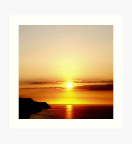 Sunset Over The Bristol Channel Art Print