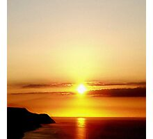 Sunset Over The Bristol Channel Photographic Print