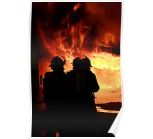 silhouette in a blaze (1) Poster