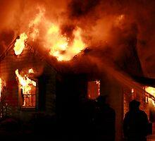 silhouette in a blaze (2) by Alex Eldridge