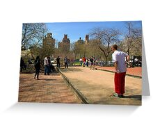 Petanque in NYC Greeting Card