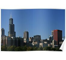 Chicago Skyline on a Cloudless Day Poster