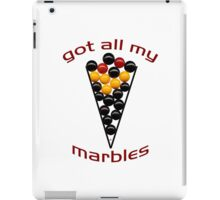 Got All My Marbles iPad Case/Skin