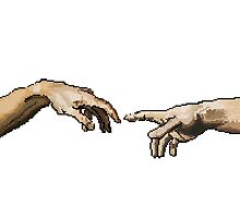 Creation of Adam // Pixels by tumblrian