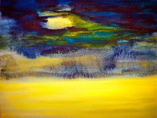 Landscape...Abstract.. Storm Warning by © Janis Zroback