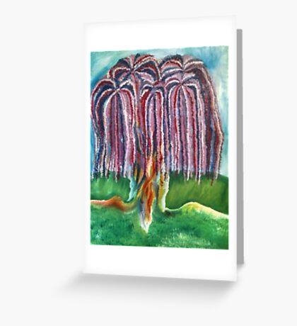 Rainbow Willow Greeting Card