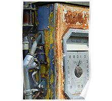 Rusting petrol pump, Wiltshire, UK Poster