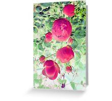 echoed blooms Greeting Card