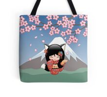 Japanese Kitsune Kokeshi Doll Tote Bag