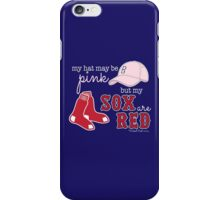 Pink Hat Red Sox iPhone Case/Skin