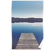 Lake of Blue Hues I Poster