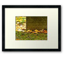Autumn Memorial Framed Print