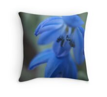 Indigo IndieBlue Flower Throw Pillow