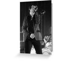 Tom Chaplin of Keane live on stage Greeting Card