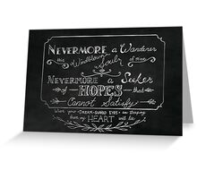 Nevermore A Wanderer Greeting Card