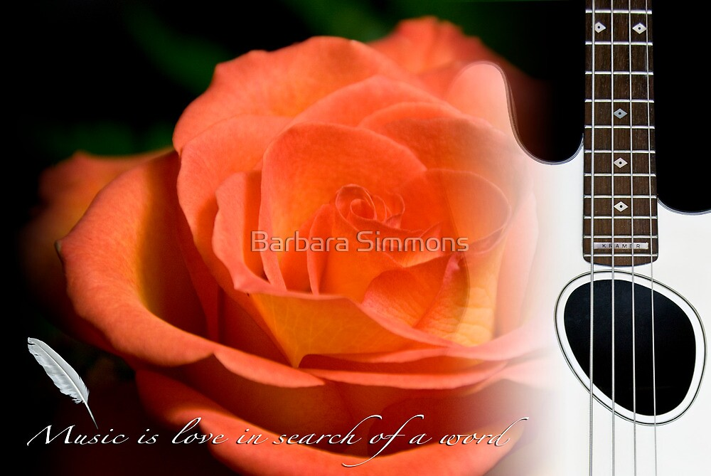 """""""Music is love in search of a word"""" by Barbara Simmons"""