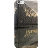 Paris - Louvre Pyramid Reflecting in the Fountain's Pool iPhone Case/Skin