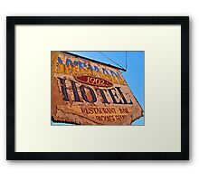 Oatman Hotel Sign Framed Print