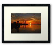 Monkey Island Sunset II Framed Print