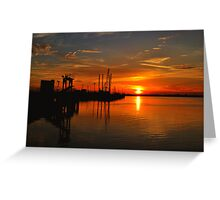 Monkey Island Sunset II Greeting Card