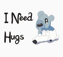 Cubchoo Needs Hugs  Kids Tee