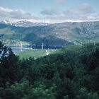 The only time we saw the road bridge across Narvik Fjord Norway 198406180028m by Fred Mitchell