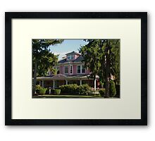 The Big Pink House Framed Print