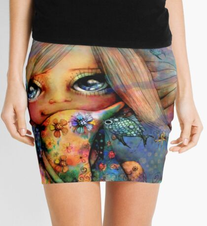 Dolphin Hugs Mini Skirt
