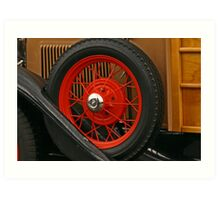 Old-fashioned firetruck wheel Art Print