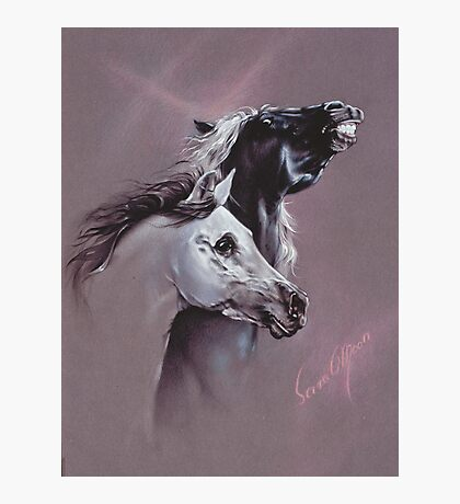 """""""My Girl!"""" in Pastel Pencil Photographic Print"""
