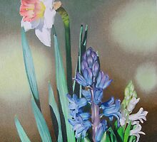 Narcissus and hyacinth by lanadi
