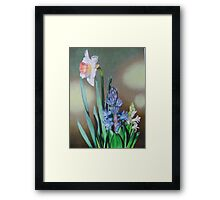Narcissus and hyacinth Framed Print