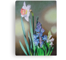 Narcissus and hyacinth Canvas Print