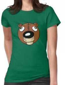 T-Bear's Head Shot Womens Fitted T-Shirt
