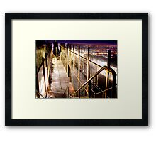 Staircase to the City, Griffith Park Observatory, Los Angeles  Framed Print