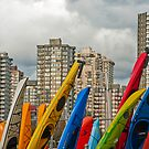 Kayaking Skyline by Wanda Dumas