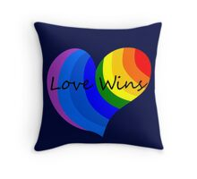 Love Wins 2 Throw Pillow
