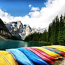 Moraine Lake, Banff Nat. Park by Teresa Zieba