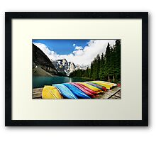 Moraine Lake, Banff Nat. Park Framed Print