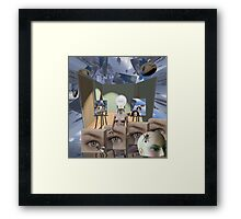 Breaking the bonds of material attachment   Framed Print