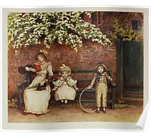 Kate Greenaway Collection 1905 0331 The Garden Seat Poster