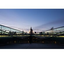 Even the Clouds Aligned with St Paul's Cathedral and the Millennium Bridge in London, UK Photographic Print