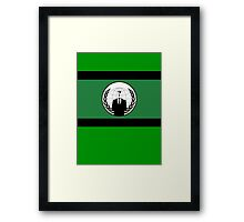 Anonymous Flag by Chillee Wilson Framed Print
