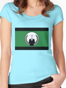 Anonymous Flag by Chillee Wilson Women's Fitted Scoop T-Shirt