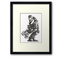 Dead Space 3 Arctic Survival Sketch Framed Print